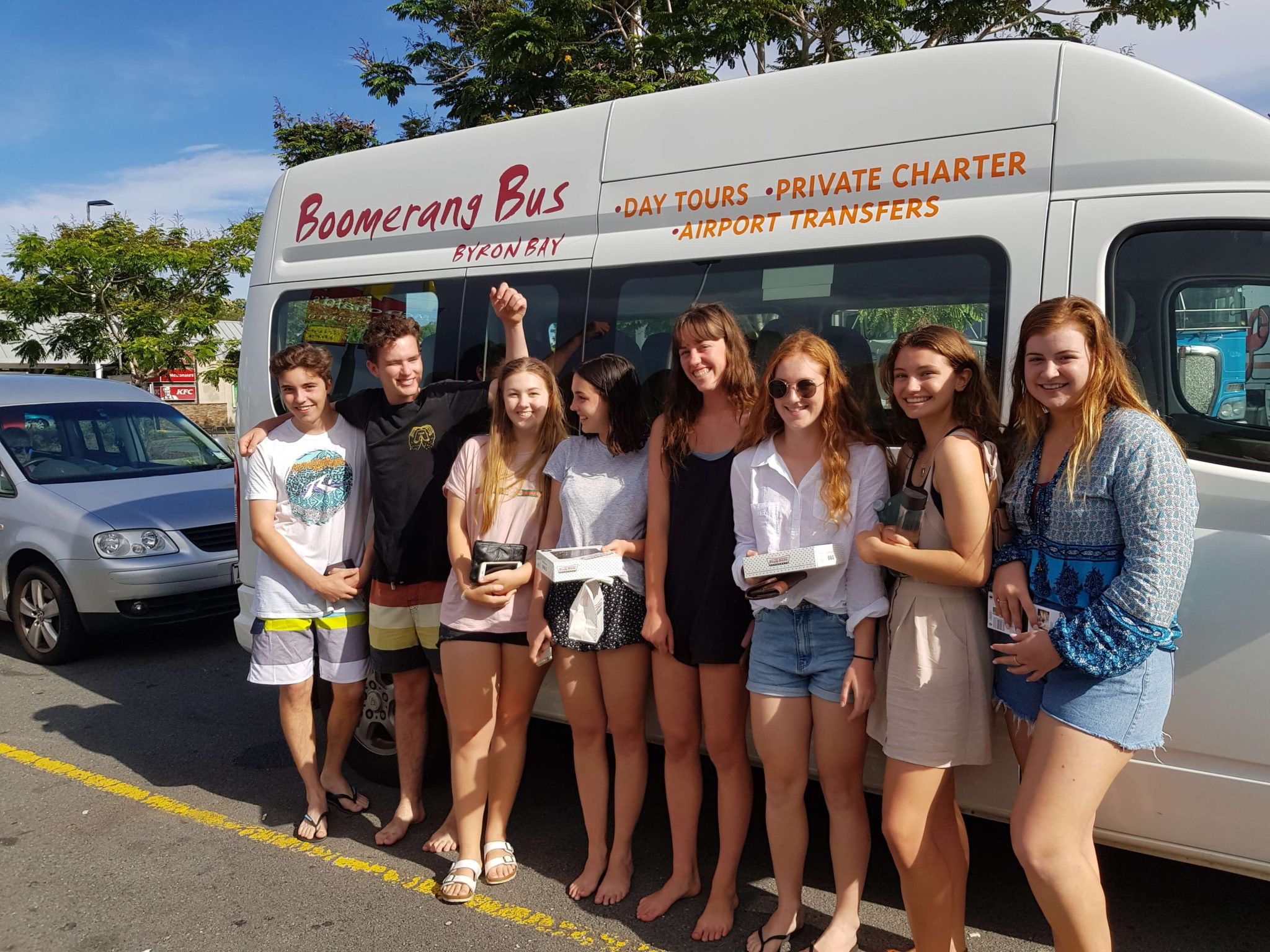Group Tours Boomerang bus Byron Bay