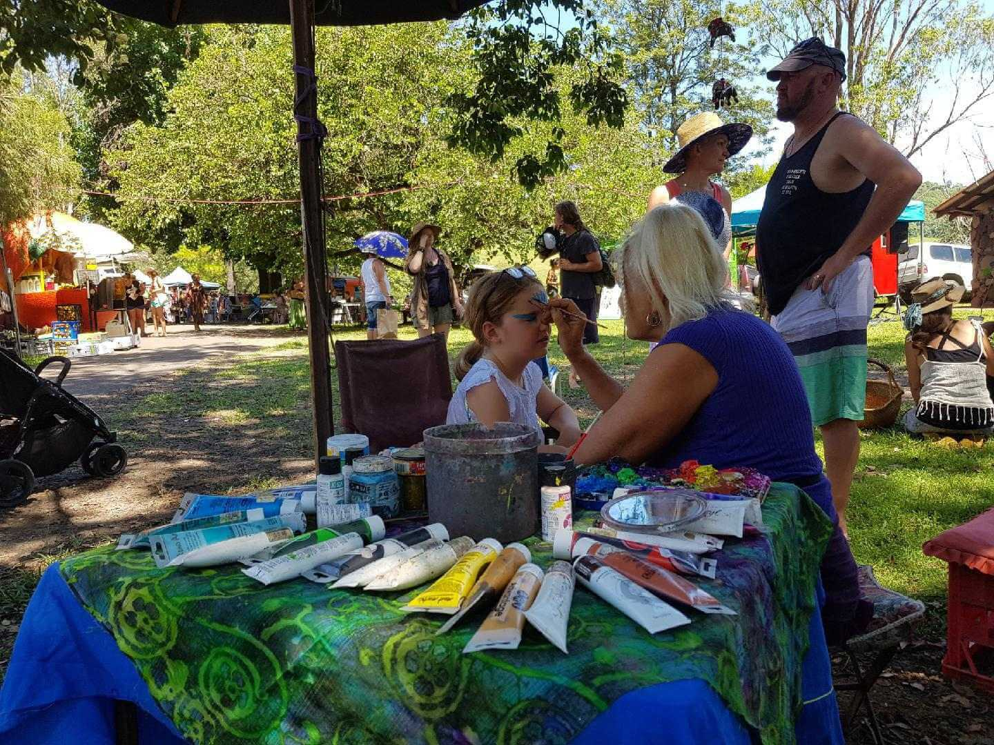 Facepainting at channon market